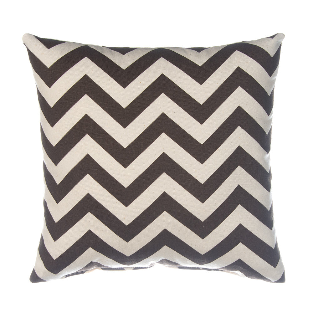 Brown Chevron Pillow