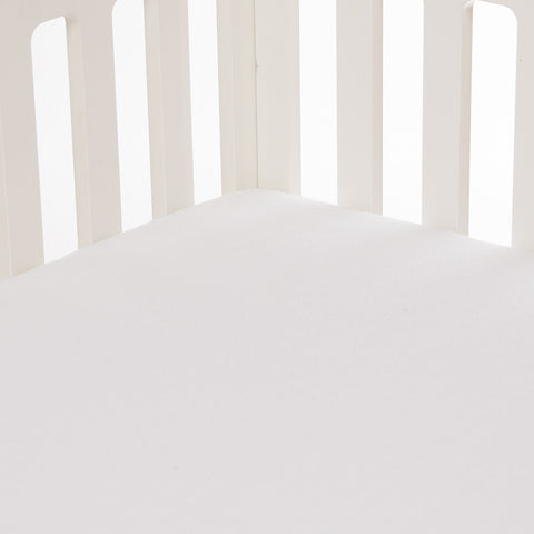 White Softee Fitted Crib Sheet