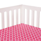 Pippin Pink Quatrefoil Fitted Crib Sheet