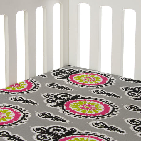 Pippin Print Fitted Crib Sheet