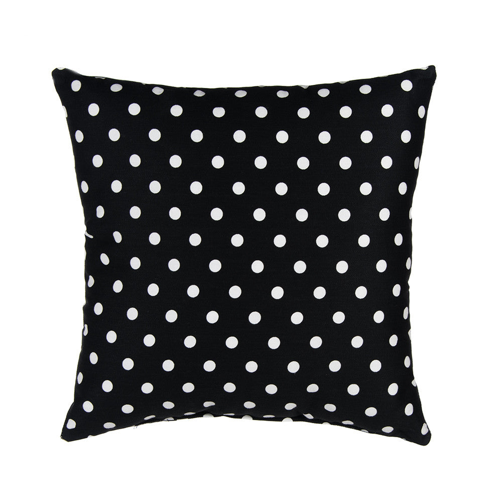 Black & White Dot Pillow