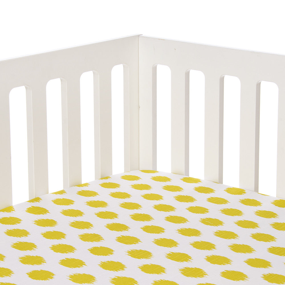 Green Dot Fitted Crib Sheet
