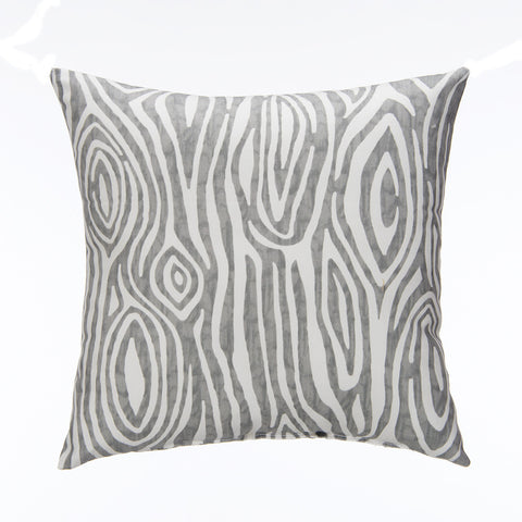 Gray Wood Print Pillow