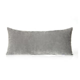Rectangular Grey Velvet Pillow