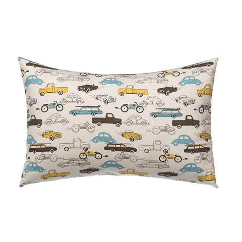 Rectangular Traffic Jam Cars Print Pillow