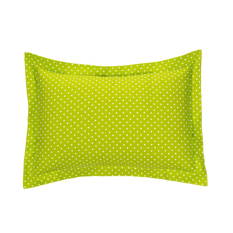 Pippin Large Green Polka Dot Sham