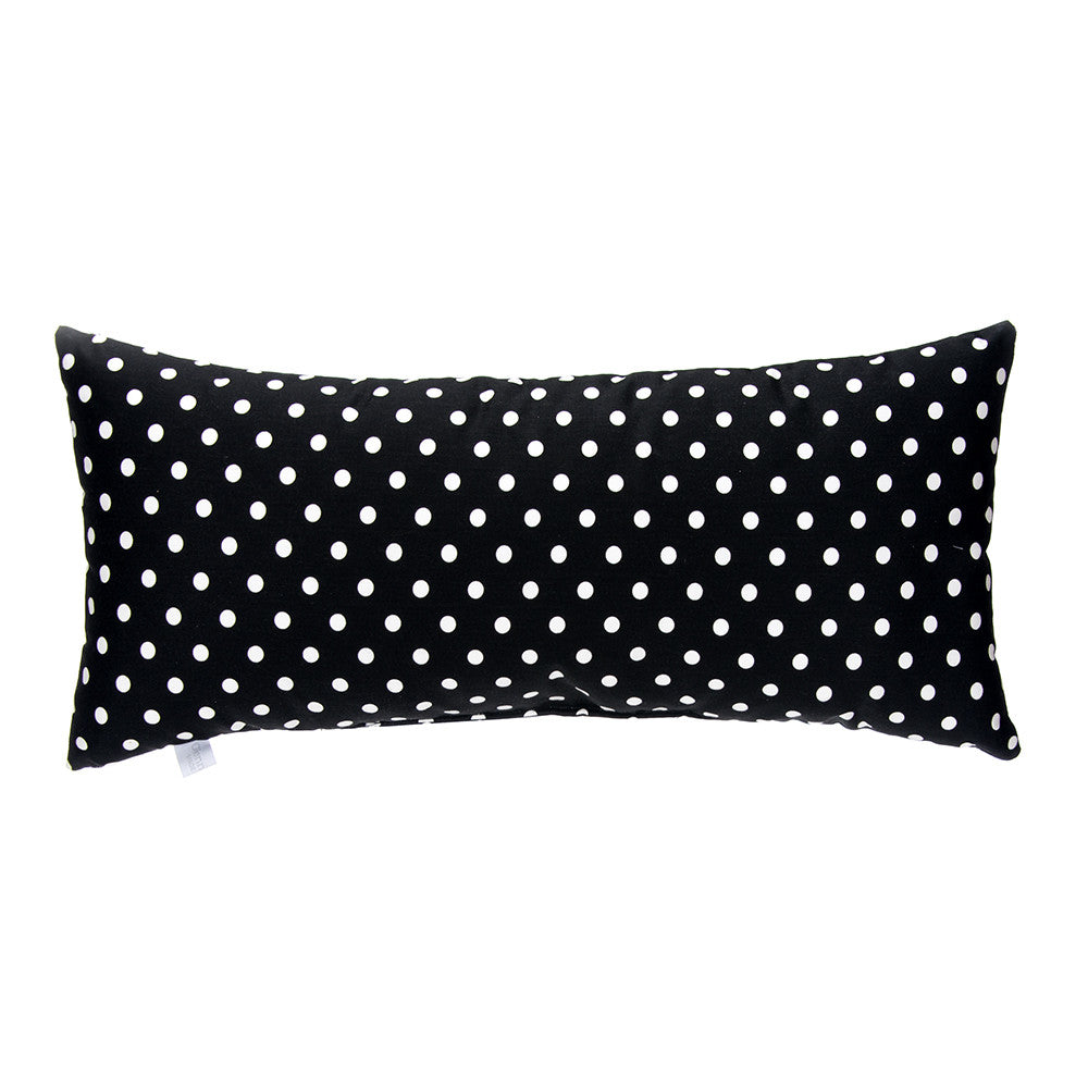 Pippin Rectangular Black & White Dot Pillow