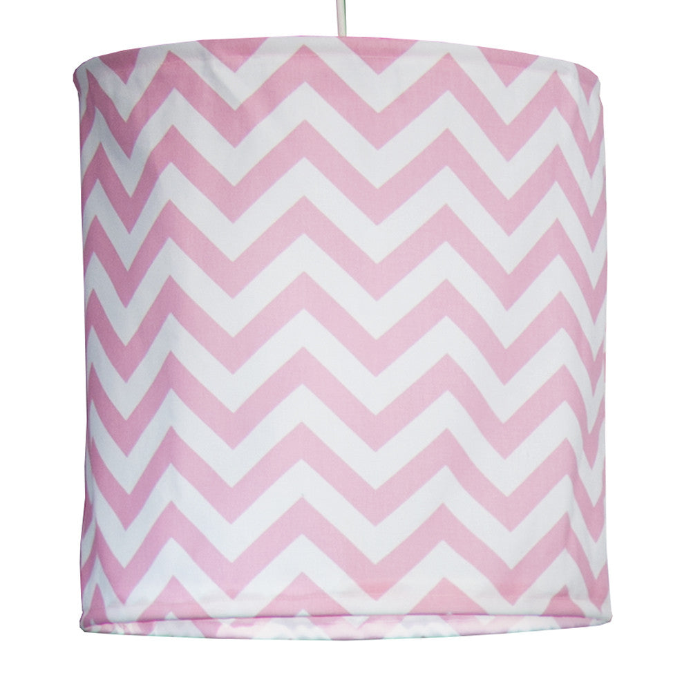 Swizzle Pink Chevron Hanging Drum Shade