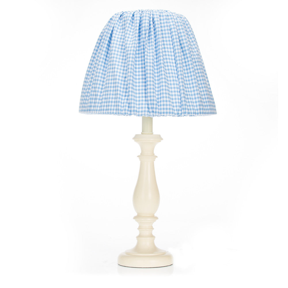 Starlight Blue Gingham Lamp