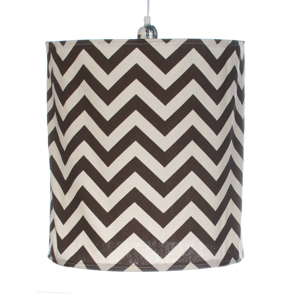 Brown Chevron Hanging Drum Shade