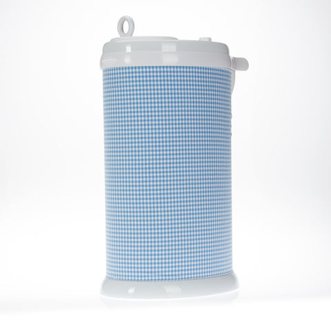 Blue Gingham Ubbi Diaper Pail Cover