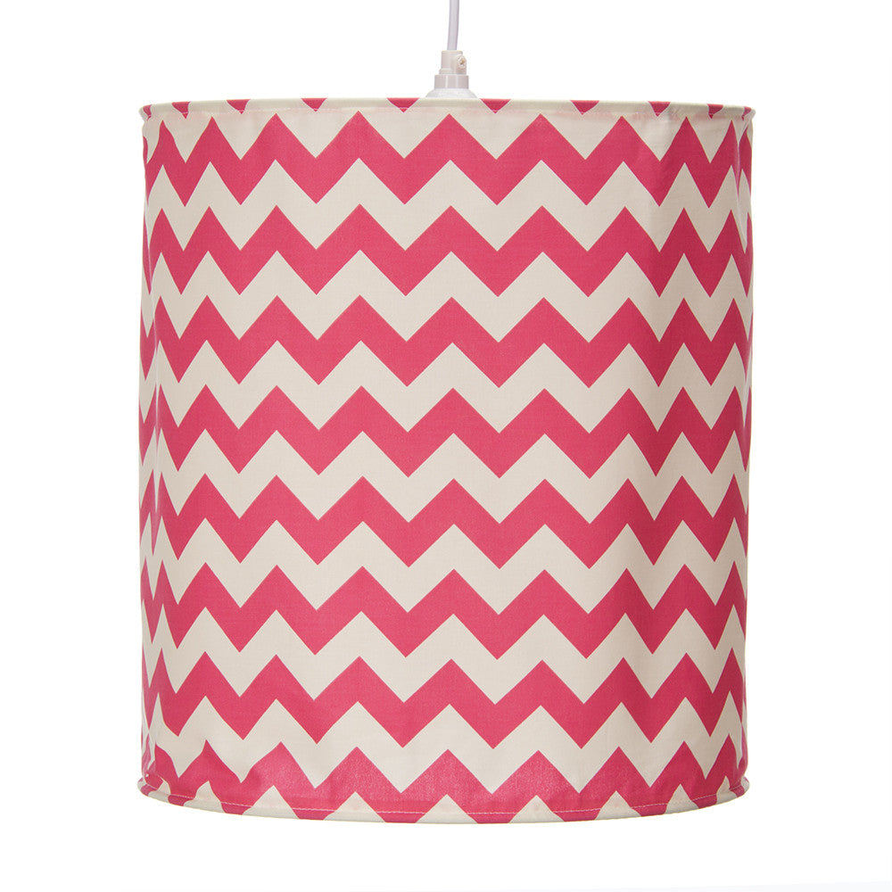 Pippin Pink Chevron Hanging Drum Shade