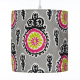 Pippin Print Hanging Drum Shade