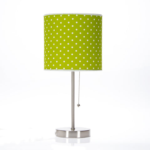 Pippin Green Polka Dot Lamp
