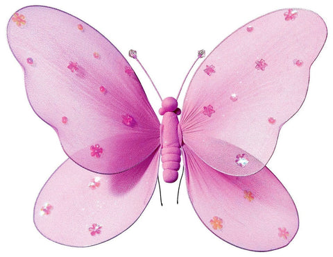 Pink Hanging Butterfly