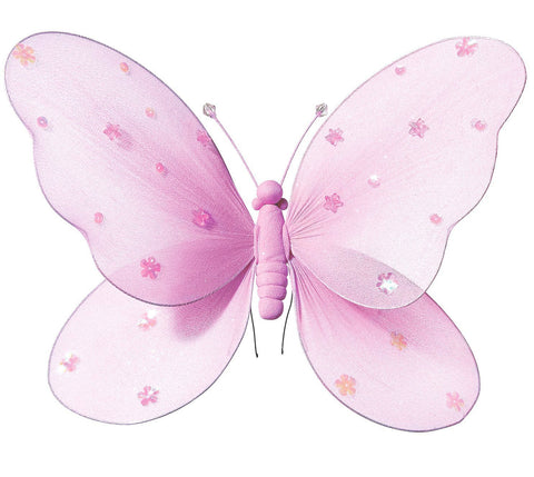 Light Pink Hanging Butterfly