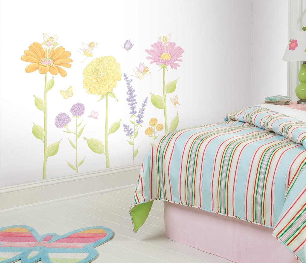 Fairy garden wall decals fun rooms for kids for Fairy garden wall mural