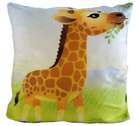 Giraffe Jungle Animal Pillow
