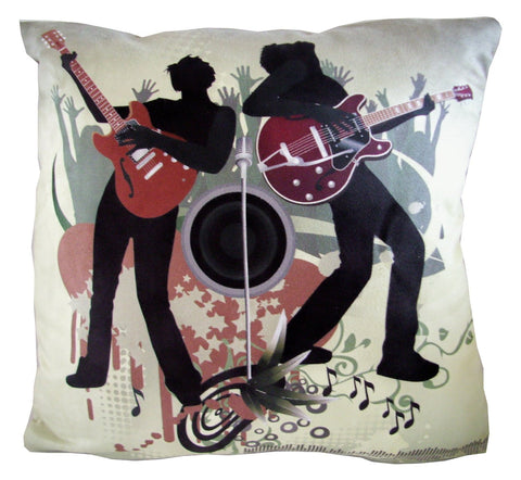 Rock Band Music Pillow
