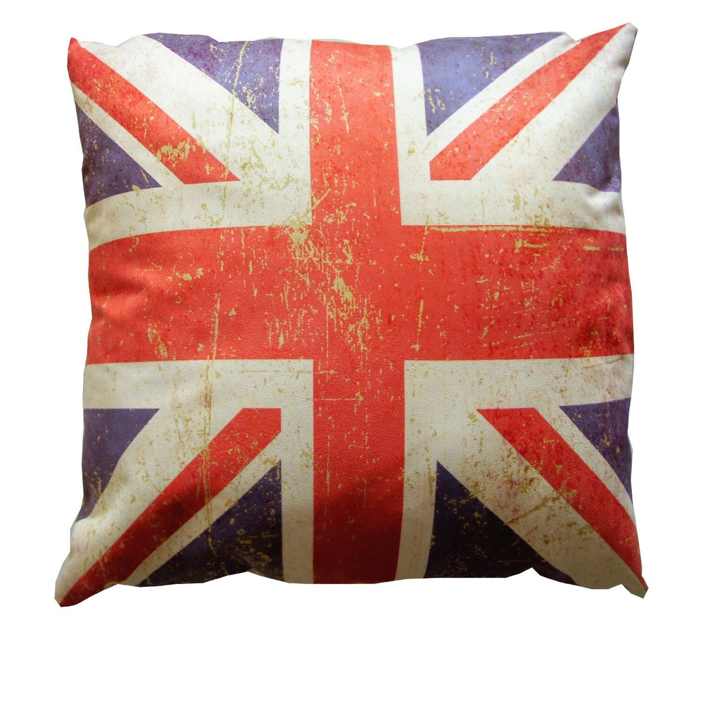 Distressed British Flag Union Jack Pillow