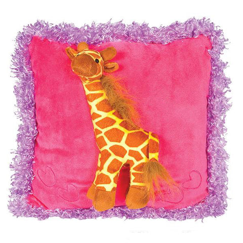 Raised Giraffe Pillow
