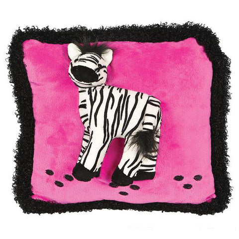 Pink & Black Raised Zebra Pillow