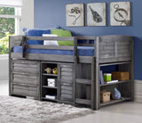 Louver Gray Twin Loft Bed