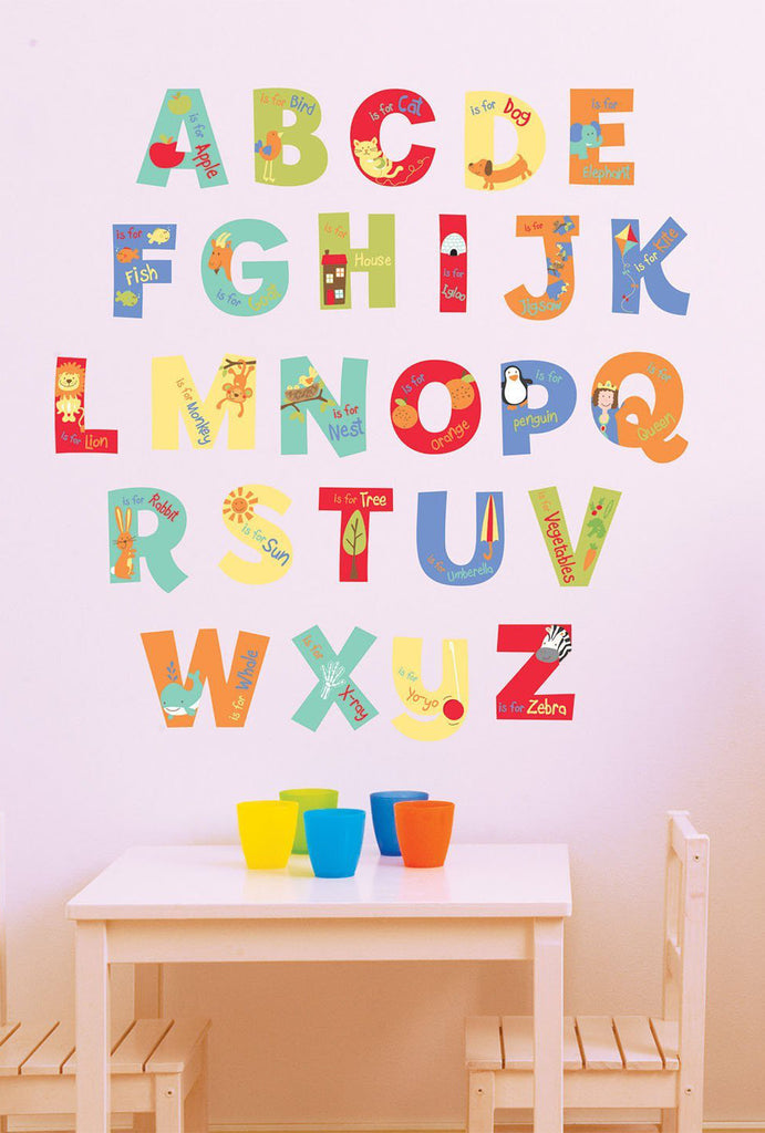 A is for Alphabet Nursery Wall Decals