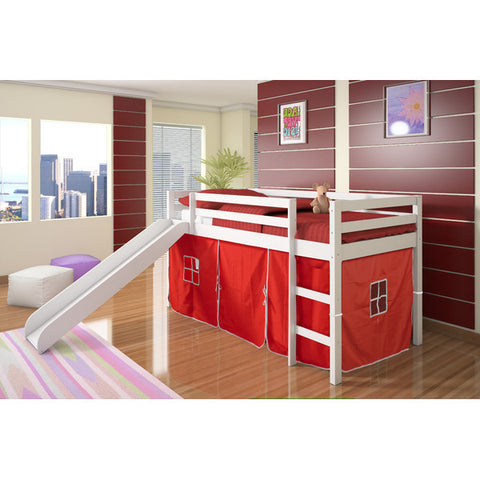 ... Twin Loft Tent Bed with Slide - White  sc 1 st  Fun Rooms For Kids & Twin Loft Tent Bed with Slide - White u2013 Fun Rooms For Kids