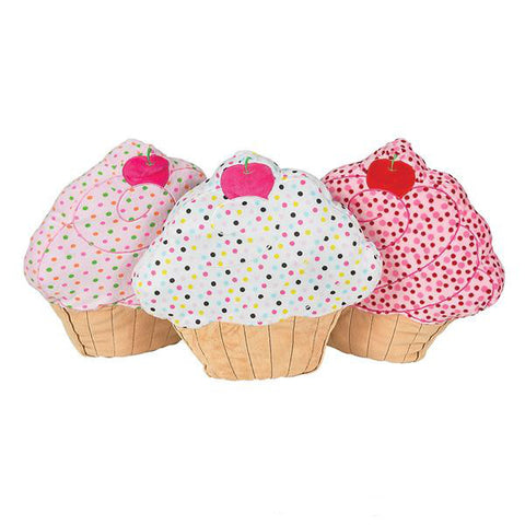 Cupcake Polka Dot Pillow
