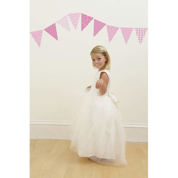 Pink Pennants Wall Decals