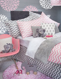Large Grey Chevron Sham