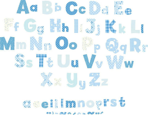 Blue Alphabet Wall Decals Nursery Fun Rooms For Kids
