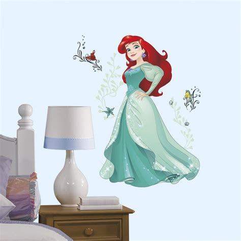 Ariel Sparkling Giant Wall Decals with Glitter