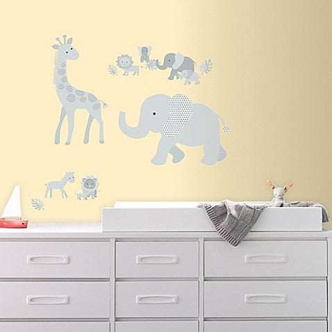 Baby Safari Animals Wall Decals