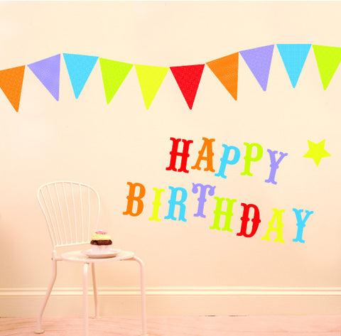 Happy Birthday Wall Decals