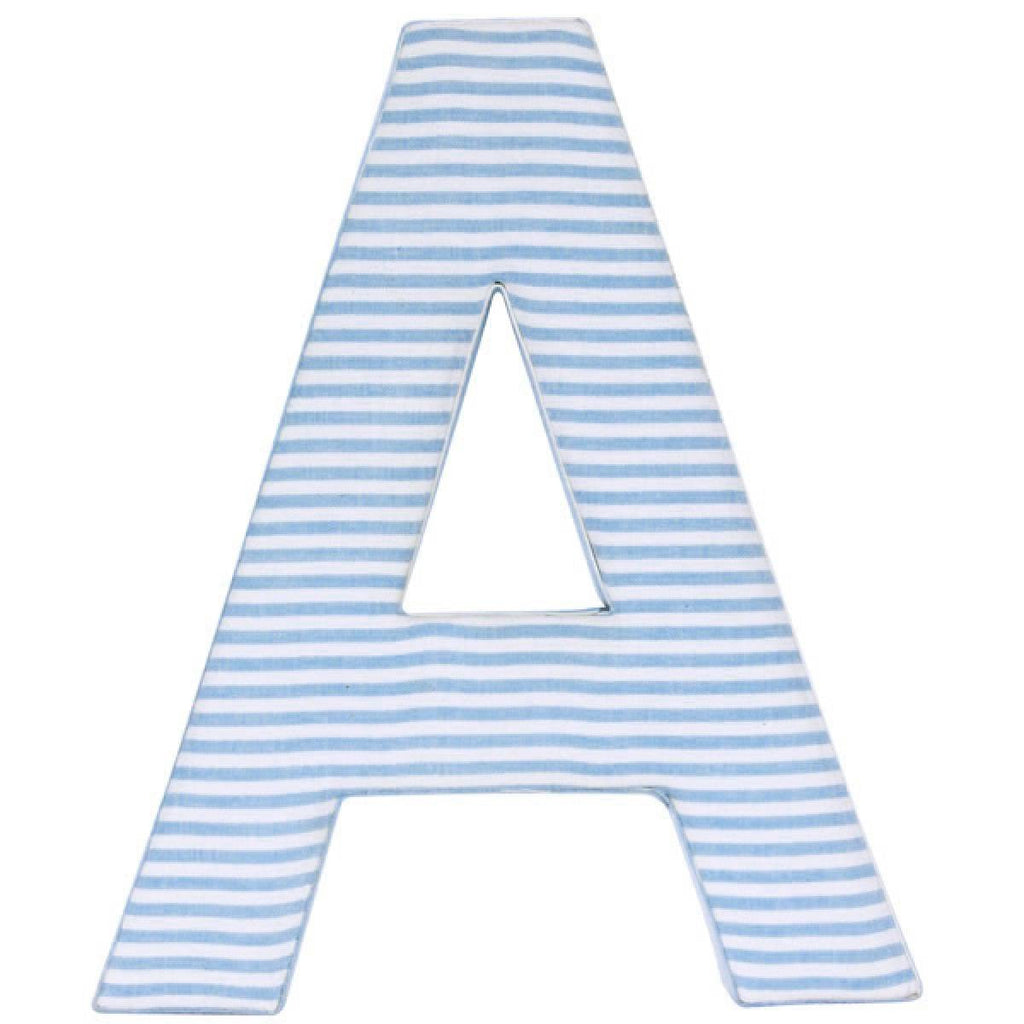 Blue Candy Stripe Fabric Wall Letters
