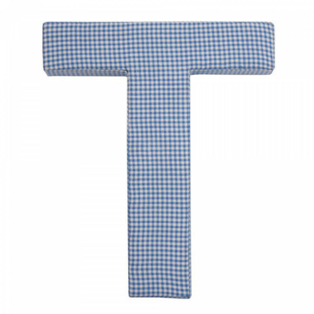 Boys Blue Gingham Nursery Fabric Wall Letters Fun Rooms