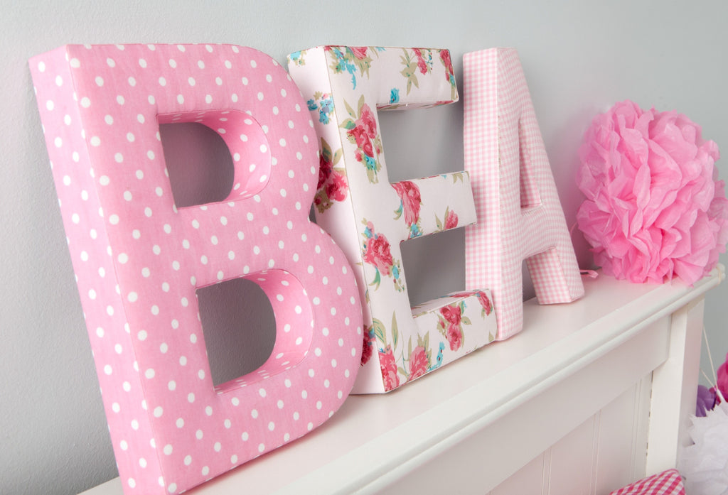 Girls Fabric Wall Letters