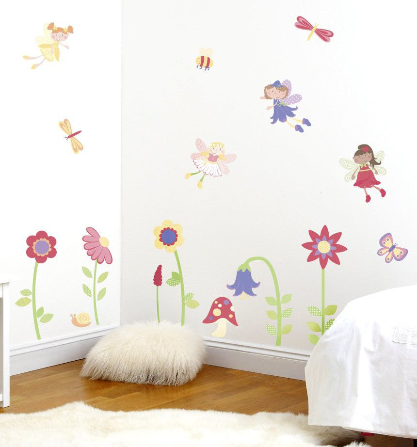 Awesome Enchanted Fairy Garden Wall Decals