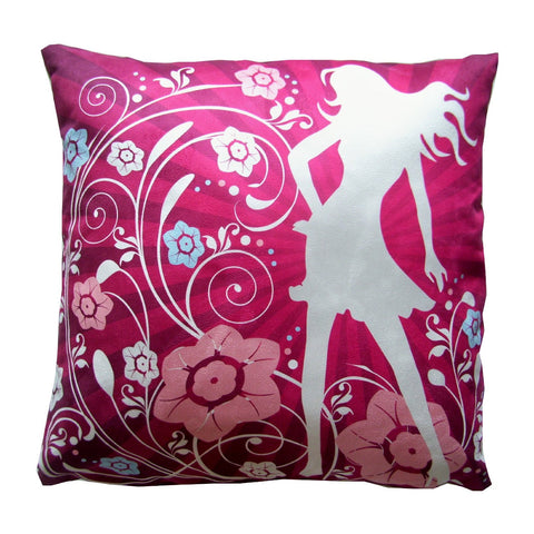 Flower Garden Girl Luxury Pillow