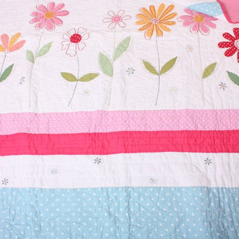 Flower Garden Quilt / Throw