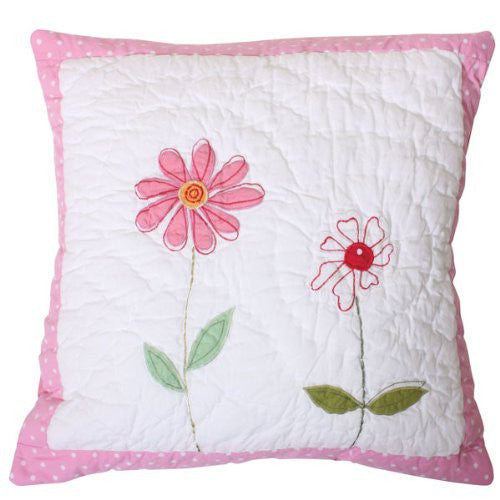 Flower Garden Quilted Pillow