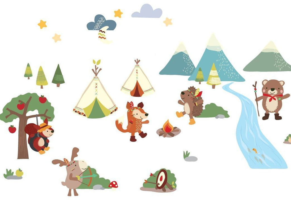 Rumble Ranch Forest Animals Wall Decals