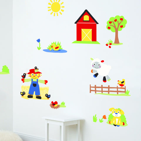 Funberry Farm Animals Wall Decals