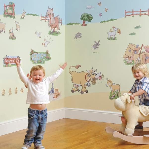 Funberry Farm Animals Wall Decals Fun Rooms For Kids