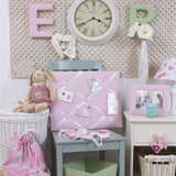 Pink Gingham Fabric Wall Letters
