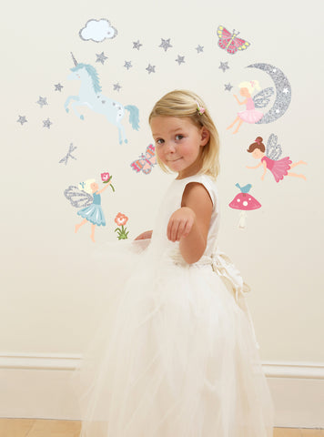 Glittering Fairies Wall Decals