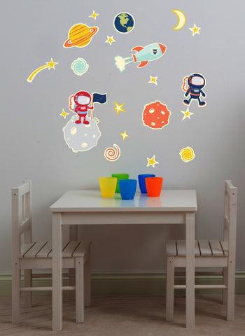 Glow in Space Wall Decals