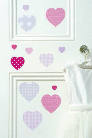 Pink Hearts Wall Decals